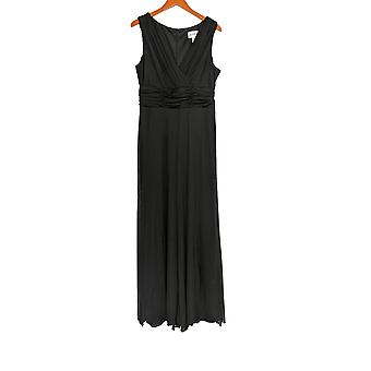 North Style Jumpsuits V Neck Sleeveless Wide Leg Black