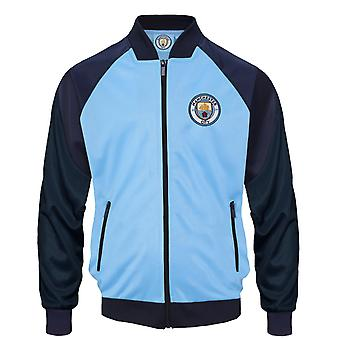 Manchester City FC Officiel Football Gift Boys Retro Track Top Jacket