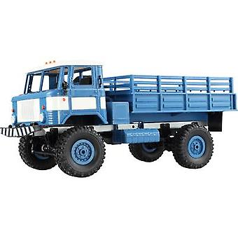 Amewi GAZ-66 Blue, White Brushed 1:16 RC model truck Electric HGV 4WD RtR 2,4 GHz Incl. battery and charging cable