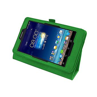 """Magnetic PU Leather Case Cover for Asus FonePad 7 ME175CG 7""""[Green]"""