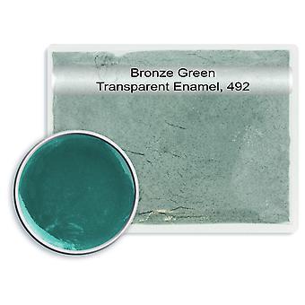 Chumbo transparente esmalte verde bronze, 492, 25gm