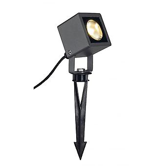 SLV Nautilus Square LED Spotlight, Square, Anthracite, 6.7Wcob LED, 3000K