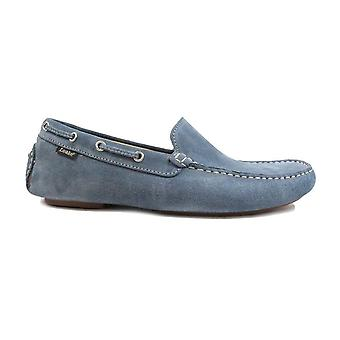 Loake Donington Light Blue Suede Leather Mens Driving Shoes