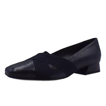 Peter Kaiser Zenja Low Heel Wide Fit Ballet Pumps In Notte Sarto