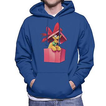 Disney Pluto Christmas Present Men-apos;s Sweatshirt à capuchon