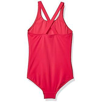 Brand - Spotted Zebra Girls' One-Piece Swimsuit, Pink Unicorn, X-Large (12)