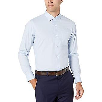 Temel Erkek ve apos;ince-fit kırışıklık dayanıklı streç elbise gömlek, hafif...