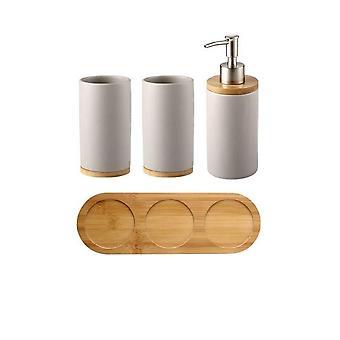 Luova keraaminen bambu kylpyhuone lasi hammasharja pidike & keittiö astianpesu