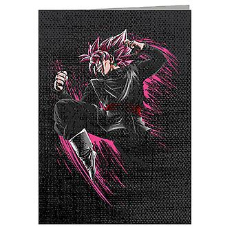 Goku Nero Super Saiyan Rose Dragon Ball - Biglietto d'auguri