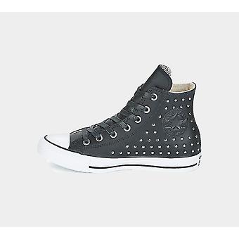 Converse Ctas Hi 561682C Blk/Blk/Silver Womens Shoes Boots