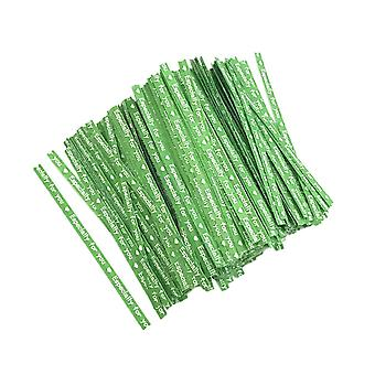 700PCS Baking Package Kraft Paper Wire Green