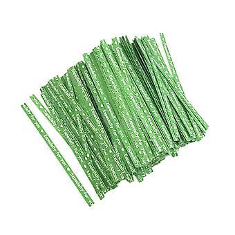 700PCS Opakowanie do pieczenia Papier kraft Drut zielony