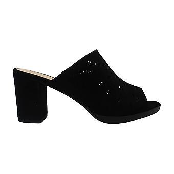 Bella Vita Women's Shoes Lark Suede Open Toe Casual Mule Sandals