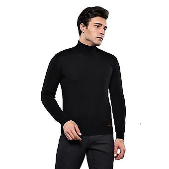Turtleneck black sweater | wessi