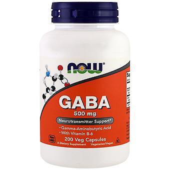Maintenant Aliments, GABA, 500 mg, 200 capsules de légumes