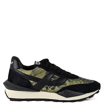 Ash SPIDER Tattoo Print Eco Trainer schwarz Wildleder