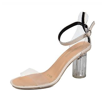 2020 new style crystal transparent high heel