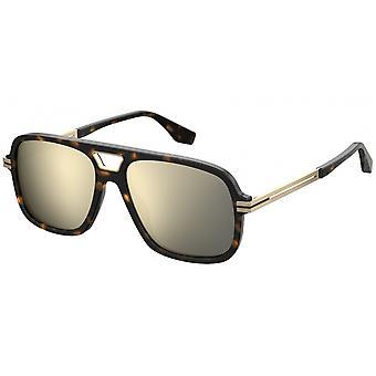 Sunglasses Men's Men's Rectangular Premium Havana Reflective