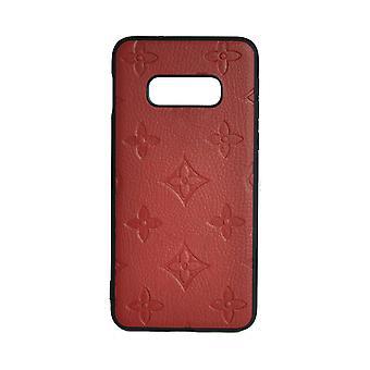 Funda de teléfono a prueba de golpes Monogram GG Para Samsung S10+ (Rojo)