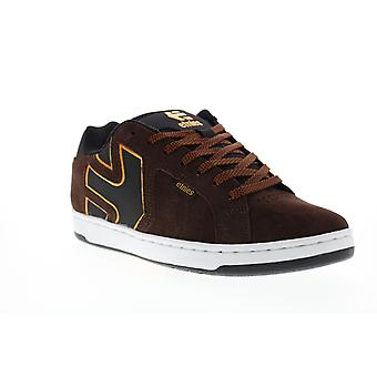 Etnies Fader 2 Mens Brown Suede Lace Up Skate Sneakers Shoes