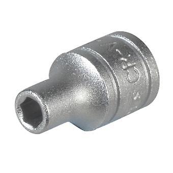 Teng Hexagon Socket 6 Point Regular 1/4in Drive 13mm TENM140513