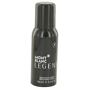 Montblanc Legend Deodorant Spray von Mont Blanc 3,3 oz Deodorant Spray