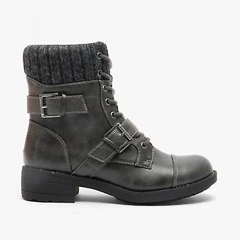 Rocket Dog Travis Ladies Ankle Boots Grey/charcoal