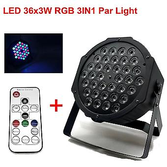 36x3w Dj Led Rgbw Wash Disco Light, Dmx Controller Effect For Small Paty Ktv