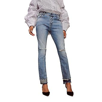 Warp + Weft | CDG - High Rise Straight Jeans
