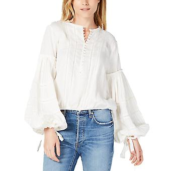 Free People | Cotton Embroidered Bell-Sleeve Top