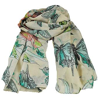 Ties Planet Butterfly & Birds Animal Print Blush Lightweight Women's Châle Scarf