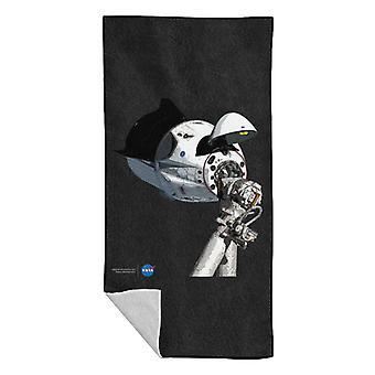 NASA SpaceX Dragon kapsel på ISS badehåndklæde