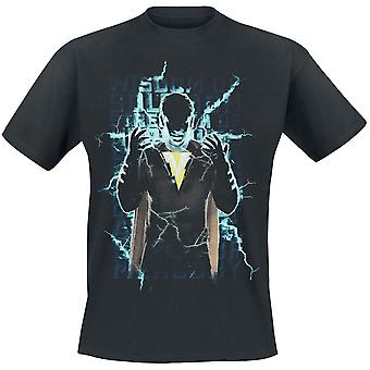 Shazam Unisex Adultes Heroic Text Print T-Shirt