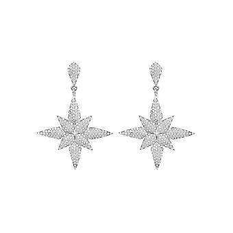 Star Kukka Pudota Korvakorut hopea
