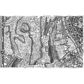 Rome Sectional Map Poster Print by  Giovanni Battista Nolli