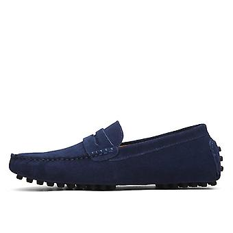 Genuine Leather Casual Loafers Moccasins Slip On Driving Shoes