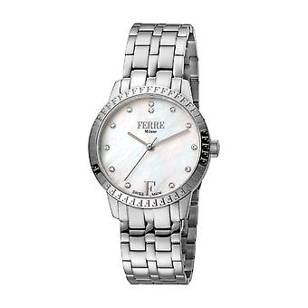Ferre Milano Ladie's White MOP Dial Stainle Steel Watch