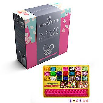 Zauberer von Loom - Armband und Webstuhl Bands Spielzeug Maker - komplette Kit mit 2100 farbige webstuhl Gummibänder 84 S-Clips 2 Loom Boards 2 Haken A Bis Z Cha