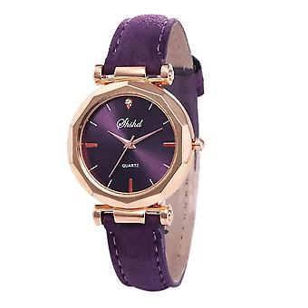 Women Rhinestone Fashion Exquisite Leather Casual Bracelet Watch