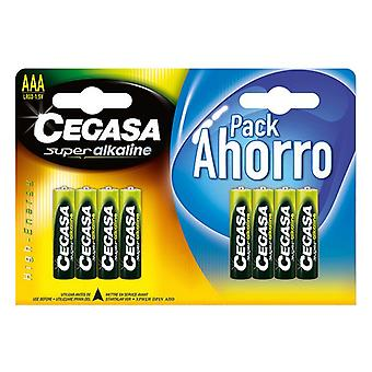 LR03 Alkaline Batteries Cegasa AAA 1,5V (8 uds)
