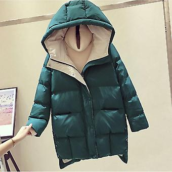 Winterjacke lange Kapuze Baumwolle gepolstert Mantel hochwertige Warm Outwear