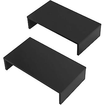FITUEYES 2 Pack Monitor Stand Wood Desk PC Computer Screen Riser
