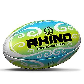 Rhino Barracuda Beach Holiday Summer Pro Rugby Ball Green/Blue