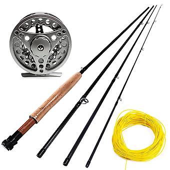 Sougayialng #5/6 Fly Fishing Rod Set 2.7m Fly Rod And Fly Reel Combo With