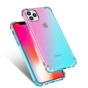 """Suojaava pehmeä TPU-kotelo Apple iPhone 11 Pro Max 6.5 """"- Vaaleanpunainen / Vihreä"""