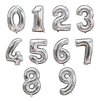 32 inches Number Balloon Gold Sliver Rose Gold Birthday Wedding  Party Decorations Foil Balloons