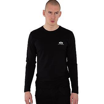 Alpha Industries Men's Long Sleeve Shirt Back Print Heavy LS