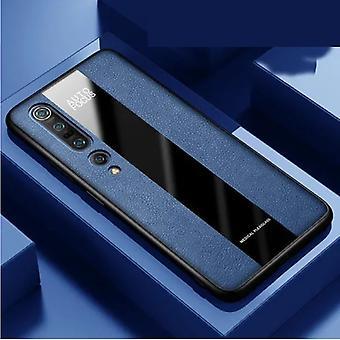 Aveuri Xiaomi Redmi Note 9 Leather Case - Magnetic Case Cover Cas Blue + Kickstand