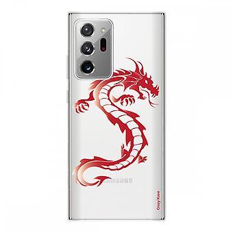 Scafo per Samsung Galaxy Note20 Ultra in silicone flessibile 1 mm, Red Dragon