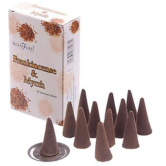 Stamford hex incense cones - frankincense and myrrh